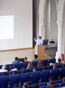 Lecture at the University of Buckingham's Radcliffe Centre. Source: University of Buckingham Pinterest.