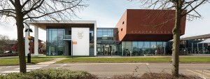 The Academic Centre at the University of Buckingham, home to innovative hospital teaching facility. Source: Feilden+Mawson.