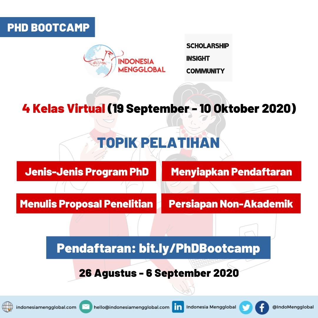 Topik Pelatihan PhD Bootcamp