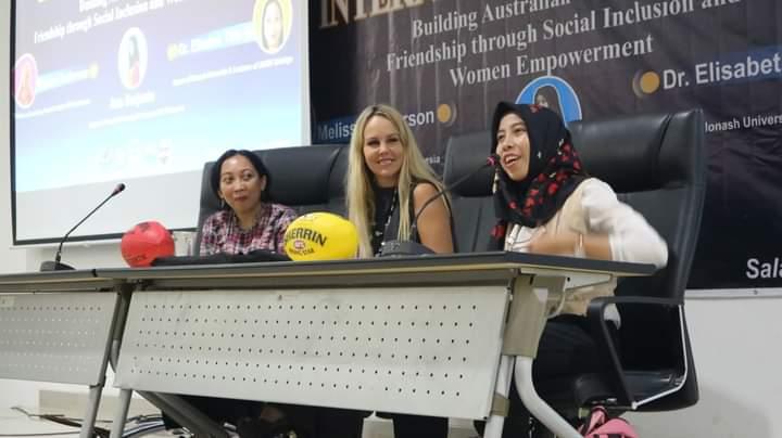 Ana in Women Empowerment seminar. Source: Personal documentation