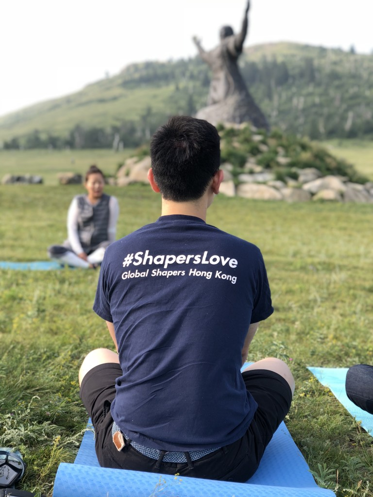One yoga session I had in Mongolia with a group of Shaper friends (I took the picture and the one pictured is not me)!