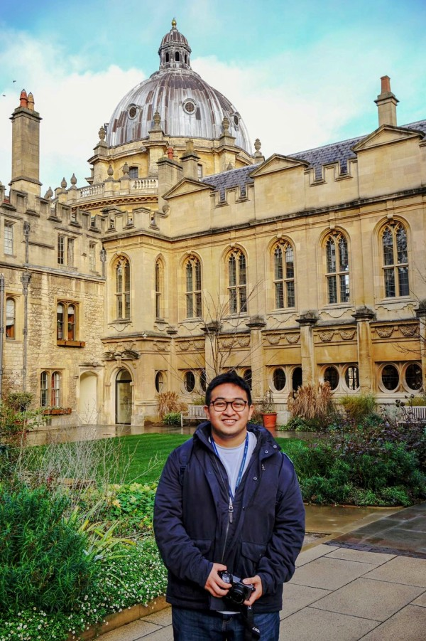 Indonesian DPhil student Indra Rudiansyah at the University of Oxford