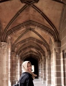 Davira Chairunnisa at University of Melbourne. Source: Personal documentation