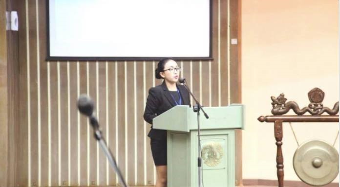 Diku in IndonesiaMUN 2013 Opening, talking about MUN as a tool to empower Indonesians, including those in eastern Indonesia. Source: https://bestdelegate.com/indonesiamun-opening-ceremonies/