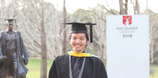 Graduation at Macquarie University Australia