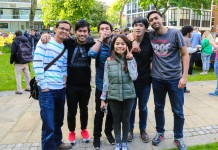Khairul Ikhwan with friends from Southeast Asia at the University of Manchester
