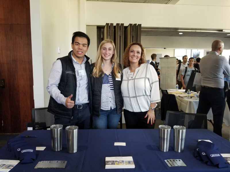 After Stanford, Robin is working as Robin is an Assistant Project Manager/Project Manager at Greystar Real Estate Partners. In this picture, he was doing school recruitment representing his current company.
