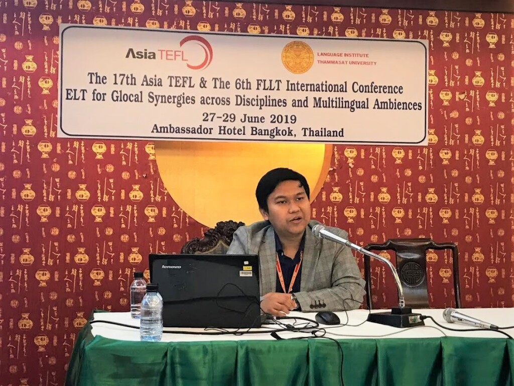 Presenting a research paper at Asia TEFL Conference in Bangkok, Thailand. Source: Personal documentation