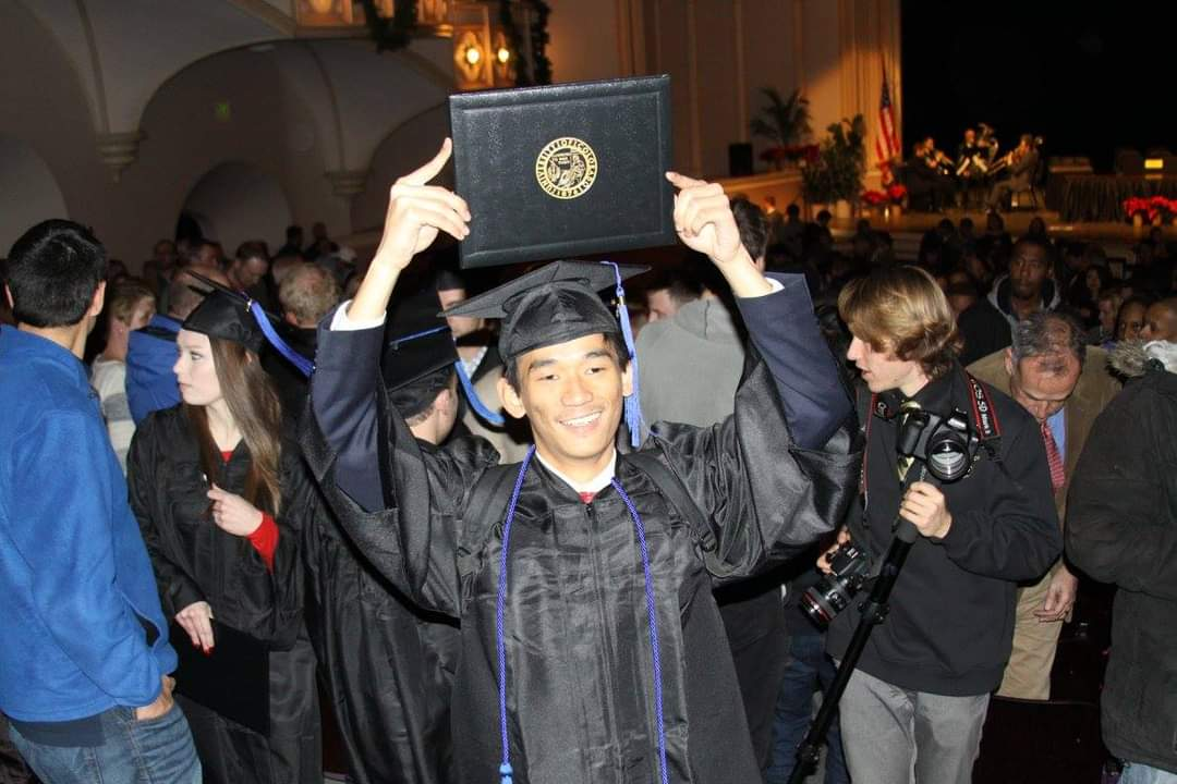 Robert on his graduation day