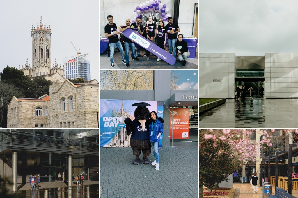 Some spots at the University of Auckland and some volunteering activities I did. Source: Personal documentation
