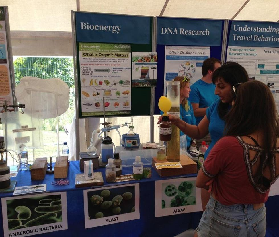 Bioenergy stand of the University Roadshow Source: University of Southampton website