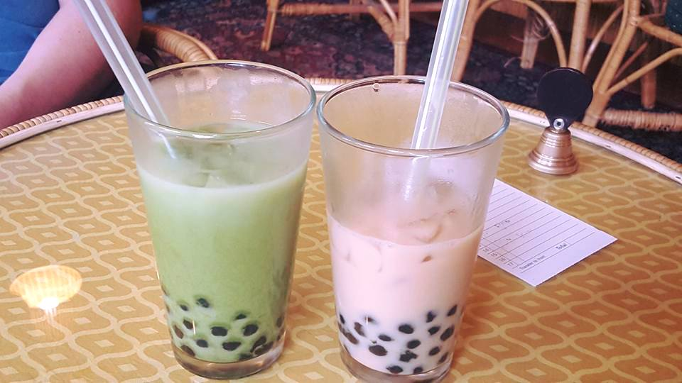The bubble tea offered at Dobra Tea in Asheville, NC is delicious!