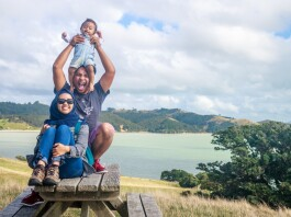 Sarah and her family in New Zealand. Source: Personal documentation