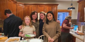 Armaya Doremi celebrating Thanksgiving with the American Family.