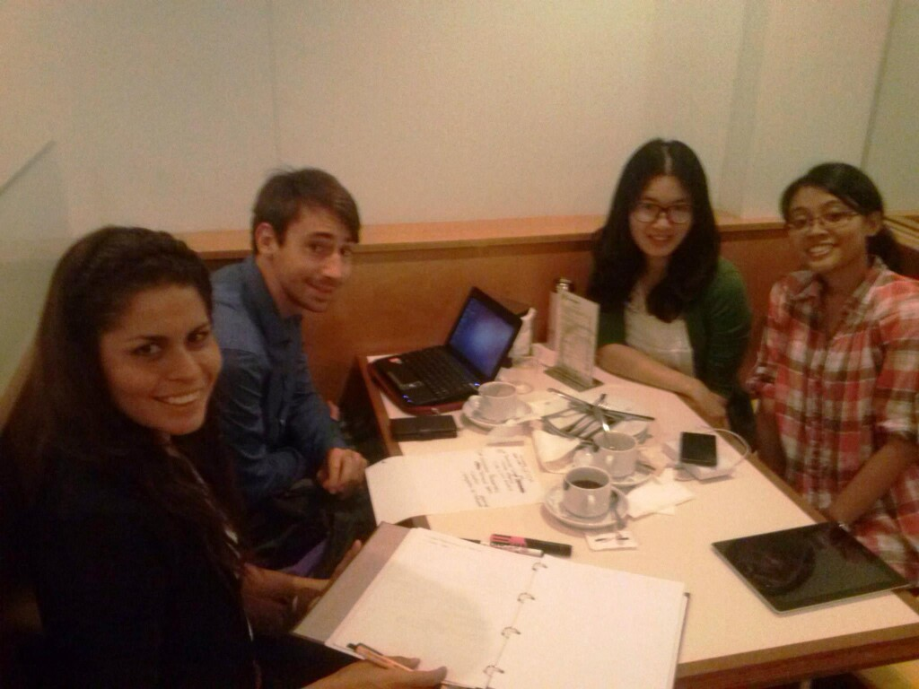 Cynthia had a group study with her colleagues
