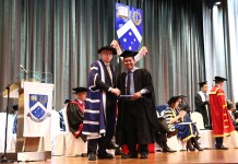 Yogi at Monash University graduation ceremony. Source: Monash University