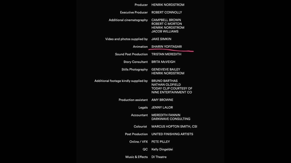 Sharin Yofitasari mentioned in Happy Sad Man's film credits. Source: Happy Sad Man