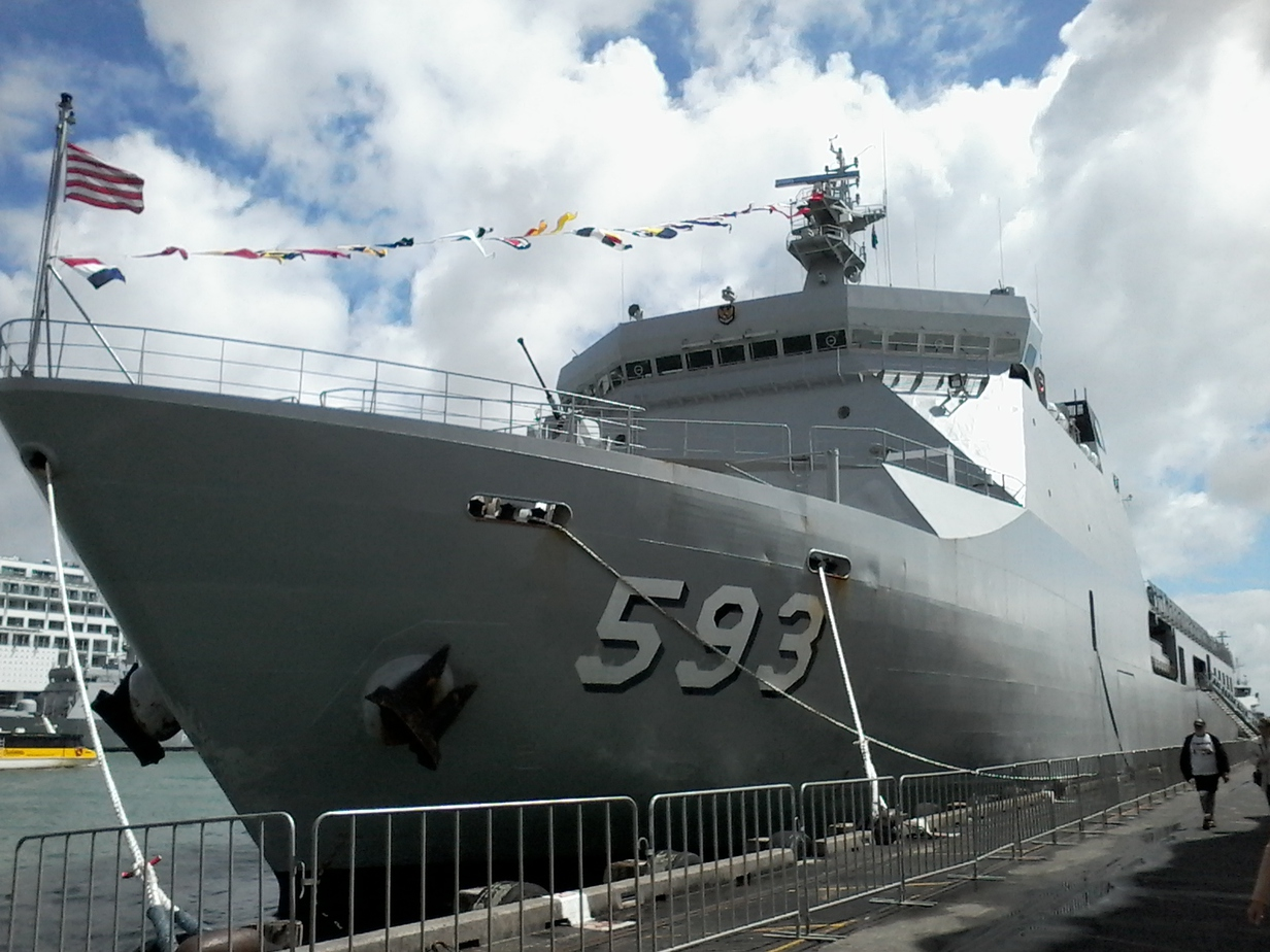 KRI Banda Aceh docking at Queen's Wharf, Auckland. Source: Personal documentation