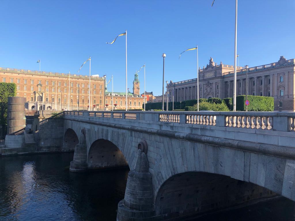 Pemandangan di pusat kota Stockholm (Dokumentasi pribadi)