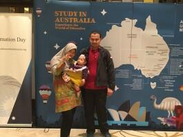 Dimas Prasetyo Muharam dalam kegiatan Australia Awards Indonesia. Sumber: Dokumentasi Pribadi