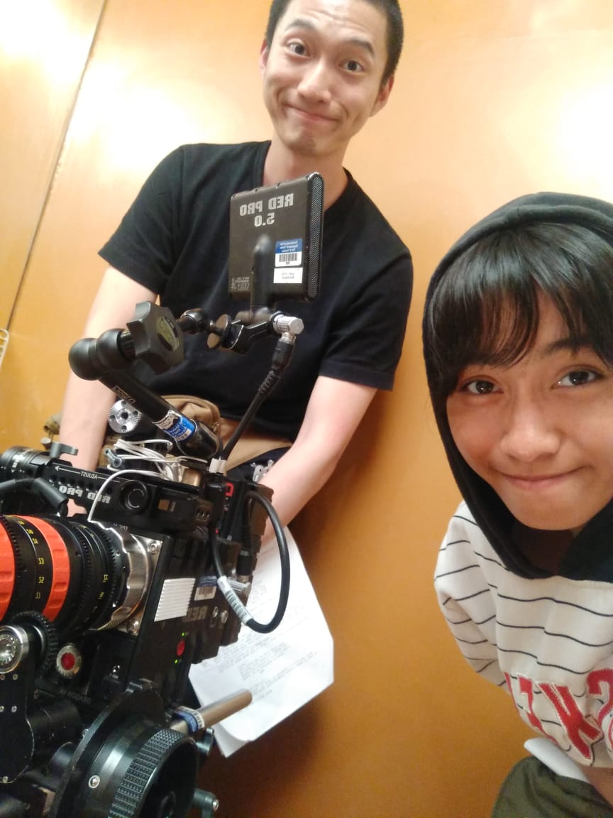 "WhatsApp Image 2021-02-23 Farah (kanan) dan Yuanmeng Luo, Director of Photography asal Tiongkok di set film pendek berjudul ""Marco and Sebastian"""