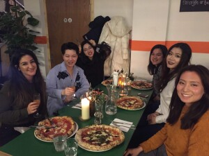 Pizza night in Manchester