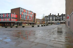 Empty Coventry City Centre during Lockdown