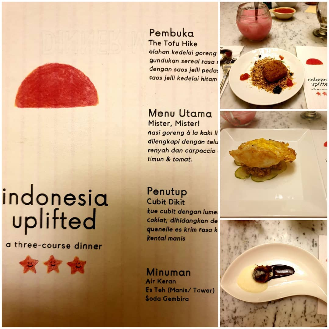 A sample of Indonesian foods