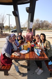Barbecuing with Indonesian friends in Canberra. Source: Personal documentation