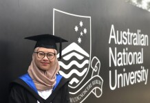 Chandra Kartika Devi at the graduation ceremony at Australian National University. Source: Personal documentation