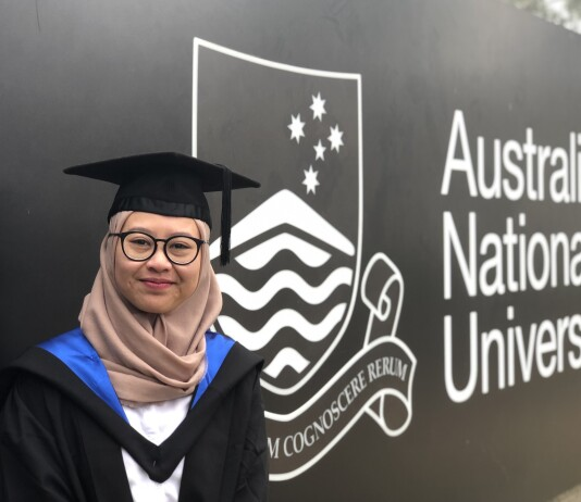 Chandra Kartika Devi at the graduation ceremony at Australian National University. Source: Personal documentation