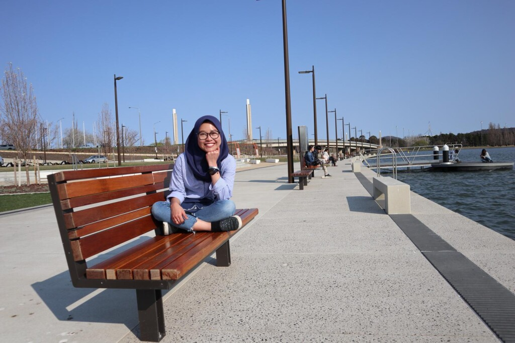 Chandra at Burley Griffin Lake. Source: Personal documentation