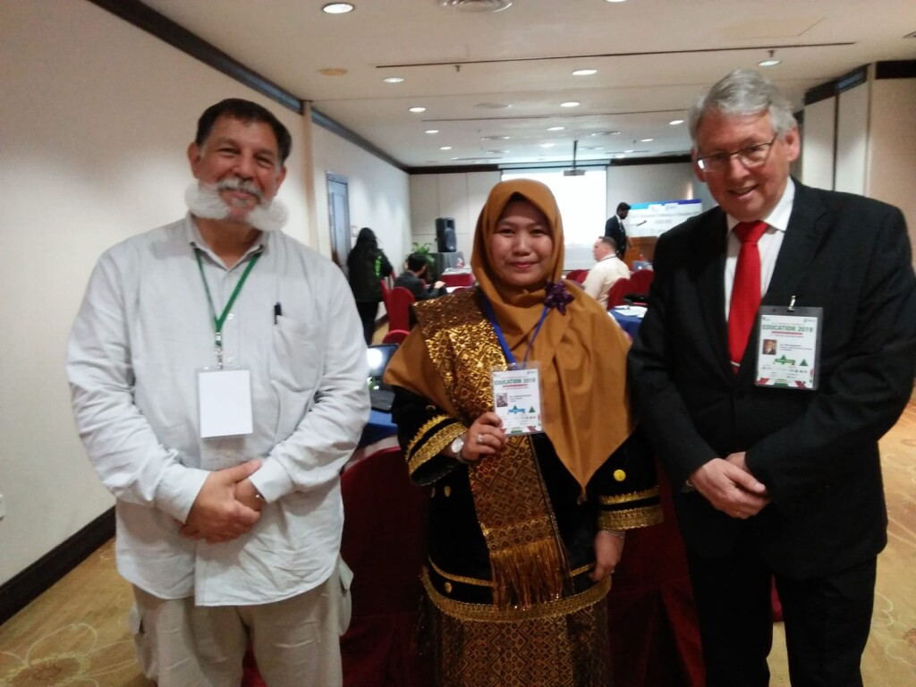 With the keynote speakers at an international conference in Malaysia. Source: Personal documentation