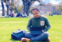 Fikan at the University Square, The University of Melbourne, Australia. Source: Personal documentation