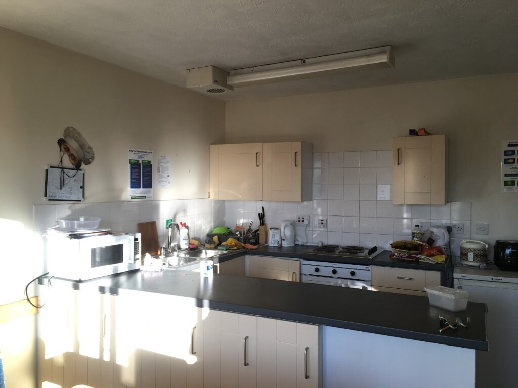 Kitchen at Queens Mary University Student Accommodation