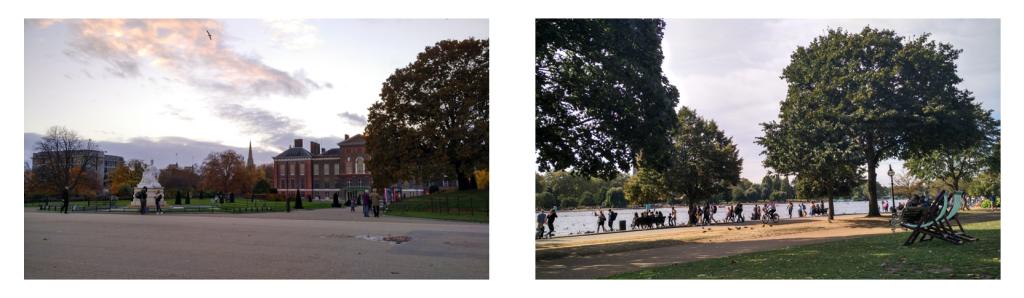 South Kensington Garden and Hyde Park