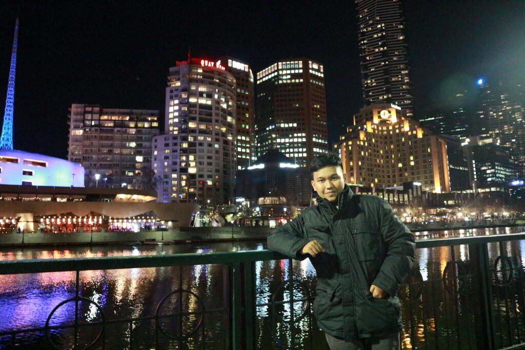 Yogi di pusat kota Melbourne. Sumber: Dokumentasi pribadi