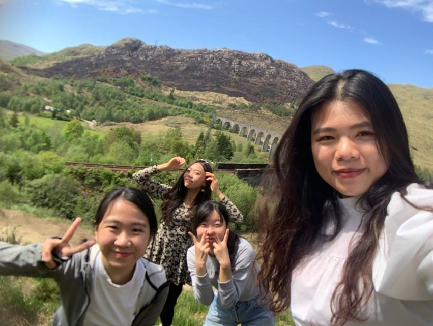 Road trip ke Scottish Highland bersama teman-teman dari Taiwan.