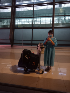 Traveling home from the Maldives during the pandemic, 2020
