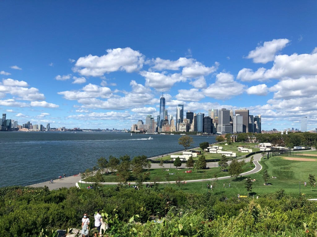"""A view of Manhattan from Governors Island during one of my """"Walk in the Park"""""""
