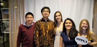 Nikki (second from left) and friends at the University of British Columbia.
