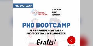 PhD Bootcamp: Persiapan Pendaftaran PhD/Doktoral di luar negeri. Gratis!