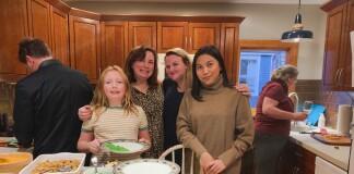 Armaya Doremi celebrating Thanksgiving with the American Family.