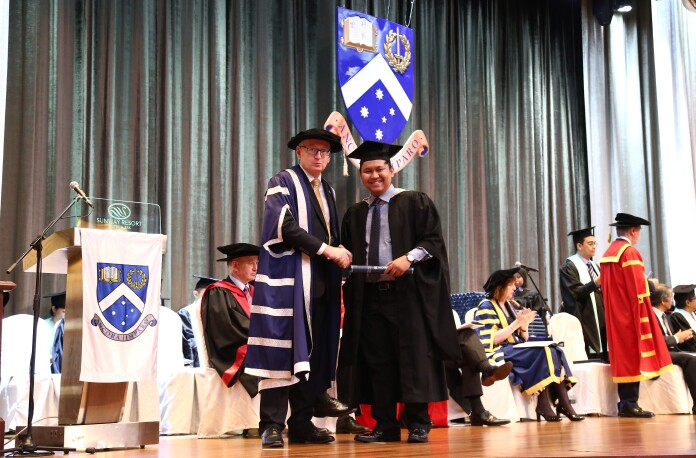 Yogi at Monash University graduation ceremony. Source: Monash University