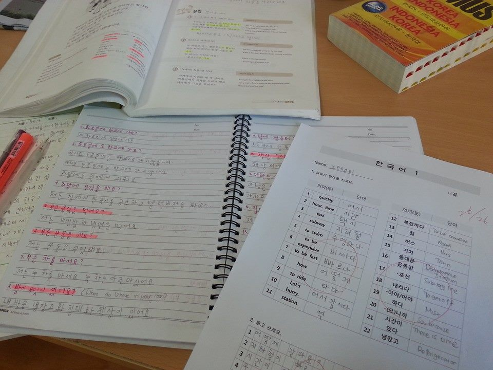 Result of attending distance learning on Korean language course. Source: writer and interviewee personal documentation