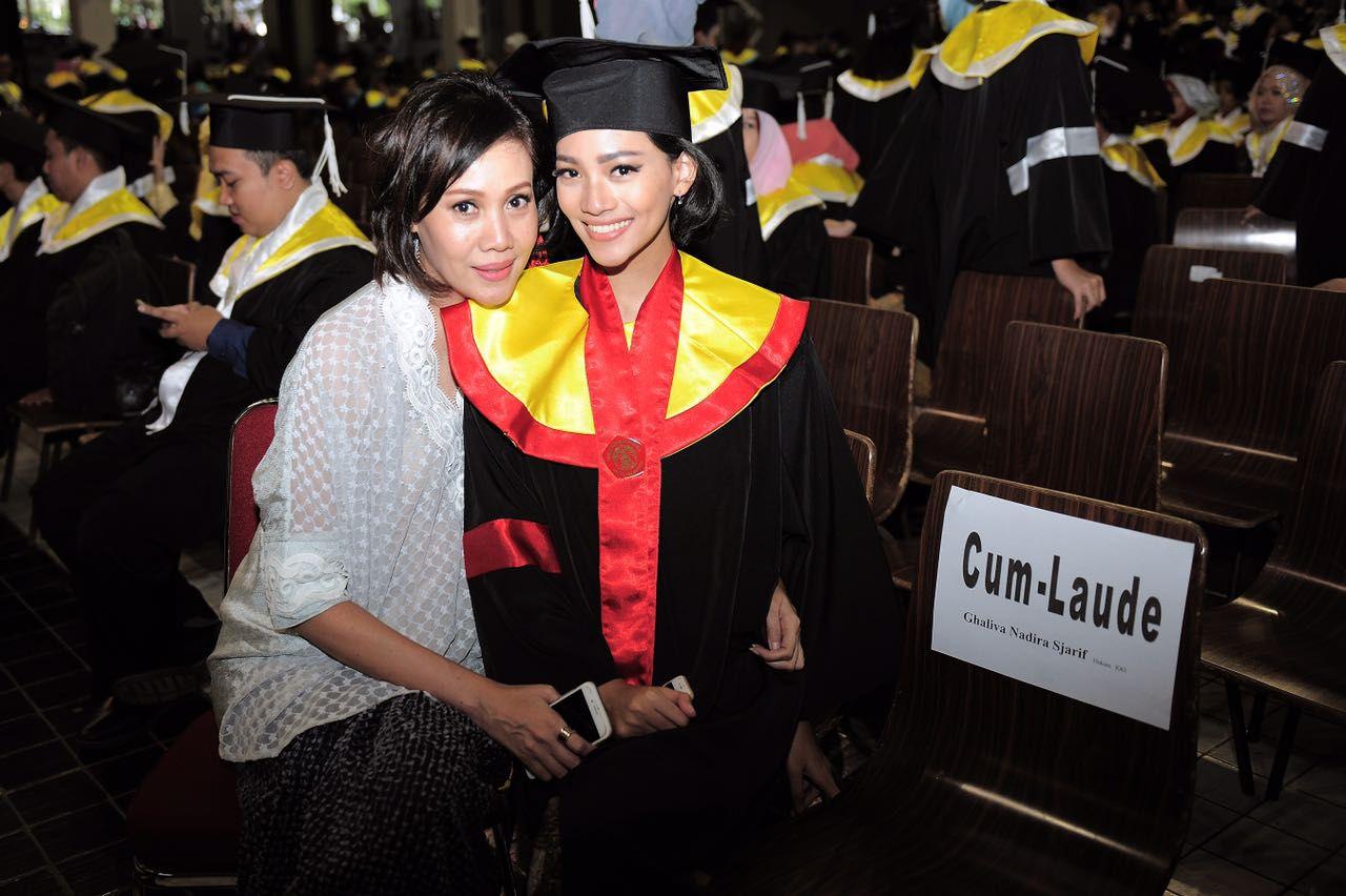 Nadira's graduation day from undergraduate studies.