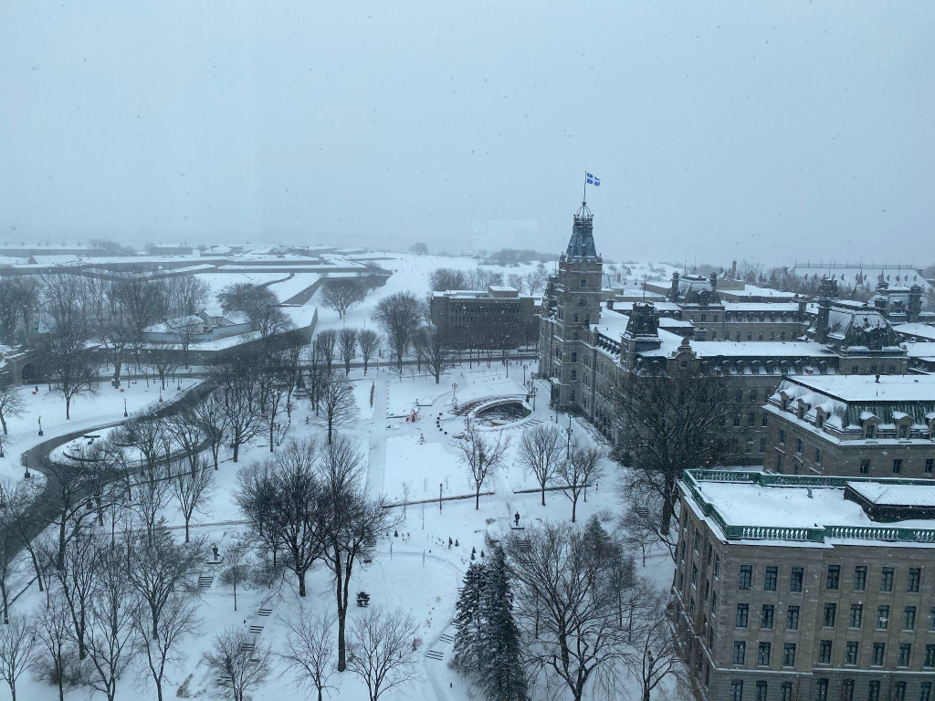 Quebec City Hall in Quebec City, Canada, Winter 2021