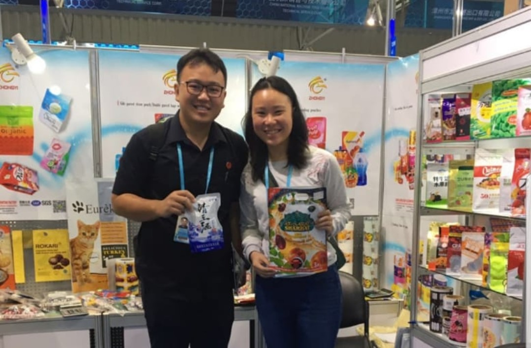 Attended 128th China import and export event on food packaging. Source: Personal documentation