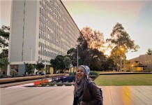 Dessy di Monash University, Australia. Sumber: Dokumentasi pribadi