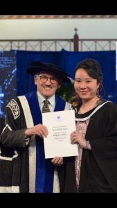 Grace completed her study at The University of Melbourne. Source: Personal documentation